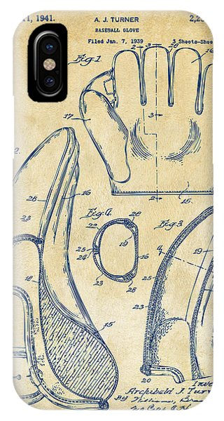 Patent Office iPhone Case - 1941 Baseball Glove Patent - Vintage by Nikki Marie Smith