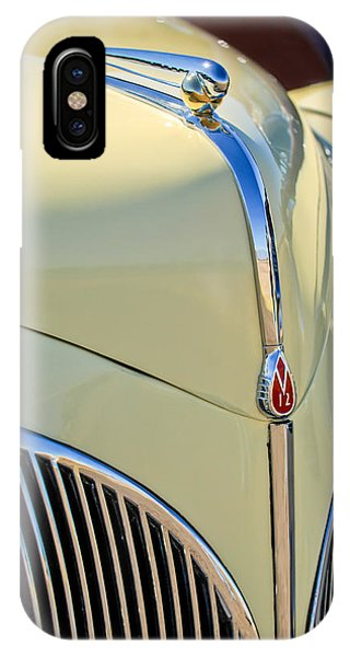 Lincoln Continental iPhone Case - 1941 Lincoln Continental Cabriolet V12 Grille by Jill Reger