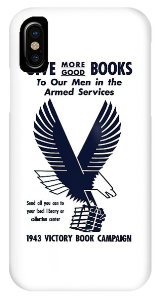School iPhone Case - 1943 Victory Book Campaign by War Is Hell Store