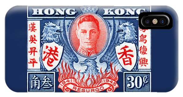 1945 Hong Kong Victory Stamp IPhone Case