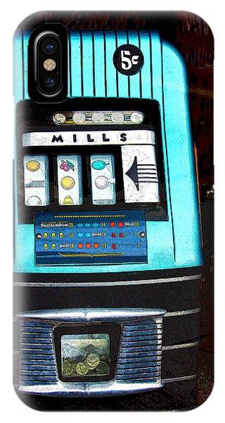 1945 Mills High Top 5 Cent Nickel Slot Machine IPhone Case