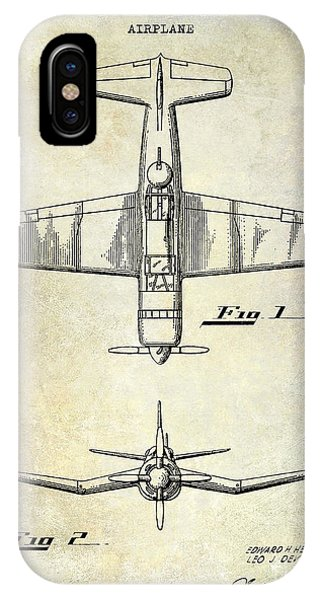 Airplane iPhone Case - 1946 Airplane Patent by Jon Neidert