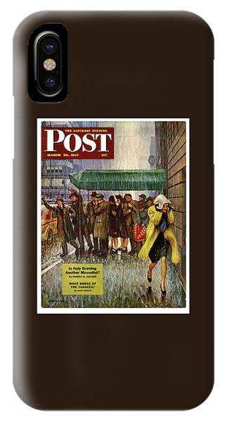 1947 Saturday Evening Post Magazine Cover IPhone Case