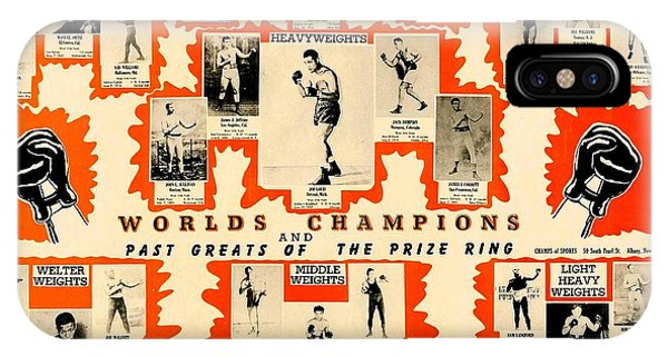 1947 World Champions And Past Greats Of The Prize Ring IPhone Case
