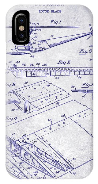 1949 Helicopter Patent Blueprint IPhone Case