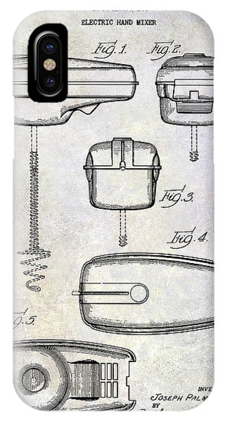 1950 Electric Hand Mixer Patent IPhone Case