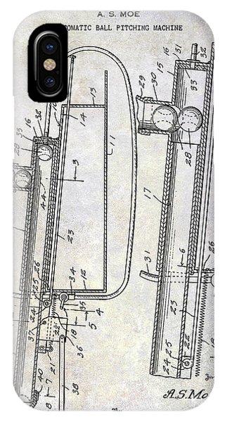 1951 Baseball Pitching Machine Patent IPhone Case