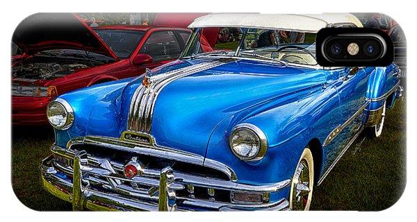 1952 Blue Pontiac Catalina Chiefton Classic Car IPhone Case