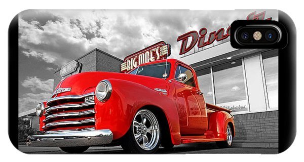 1952 Chevrolet Truck At The Diner IPhone Case