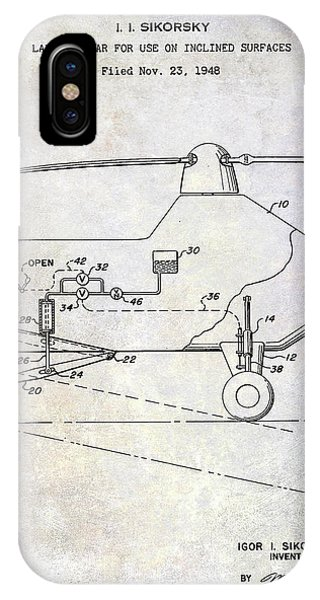 1953 Helicopter Patent IPhone Case