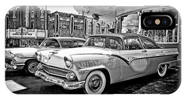 1955 Fairlane Crown Victoria Bw IPhone Case