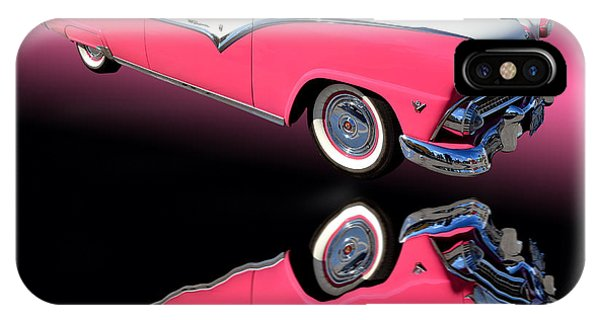 Auto Show iPhone Case - 1955 Ford Fairlane Crown Victoria by Jim Carrell