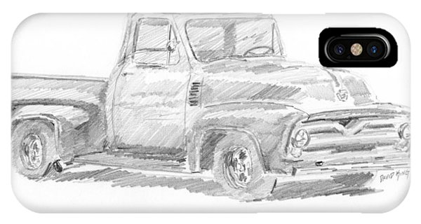 1955 Ford Pickup Sketch IPhone Case