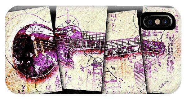 Van Halen iPhone Case - 1955 Les Paul Custom Black Beauty V3 by Gary Bodnar