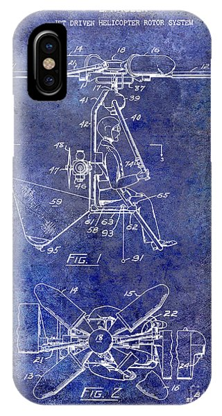 1956 Helicopter Patent Blue IPhone Case