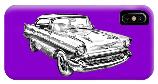 1957 Chevy Bel Air Illustration IPhone Case