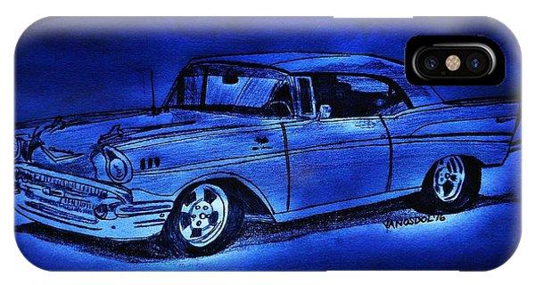 1957 Chevy Bel Air - Moonlight Cruisin  IPhone Case