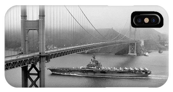 1957 Uss Hancock In San Francisco IPhone Case