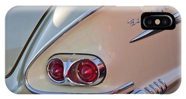 1958 iPhone Case - 1958 Chevrolet Belair Taillight by Jill Reger