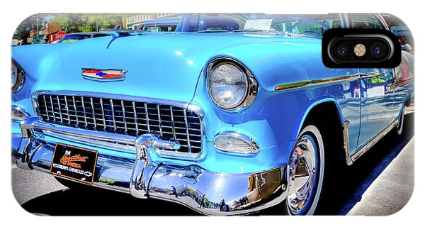 iPhone Case - 1955 Chevy Baby Blue by David Patterson