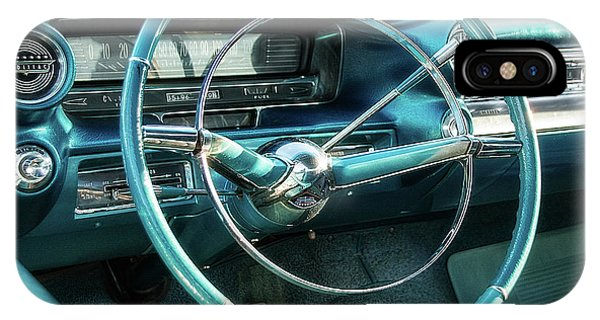 Auto Show iPhone Case - 1959 Cadillac Sedan Deville Series 62 Dashboard by Jon Woodhams