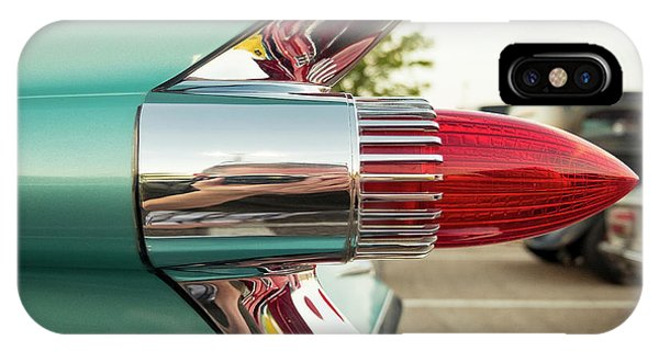 Auto Show iPhone Case - 1959 Cadillac Sedan Deville Series 62 Tail Fin by Jon Woodhams