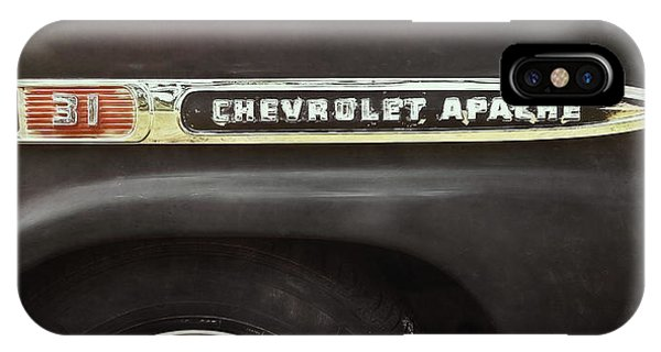 Truck iPhone X Case - 1959 Chevy Apache by Scott Norris