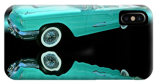 Auto Show iPhone Case - 1959 Ford Thunderbird by Jim Carrell