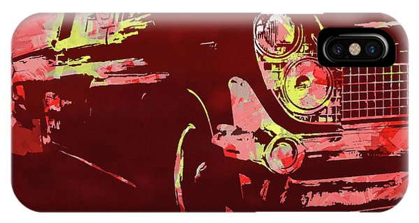 1959 Lincoln Continental Red Pop IPhone Case