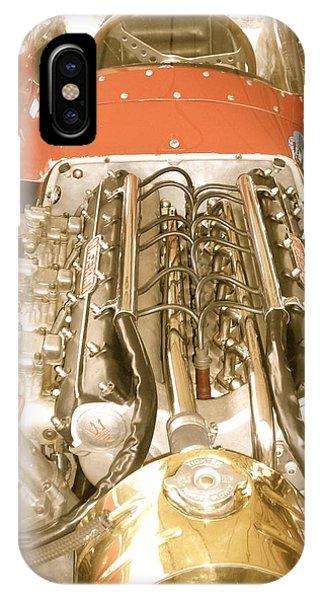 1959 Tecnia Meccanica Maserati 250f Engine Detail IPhone Case