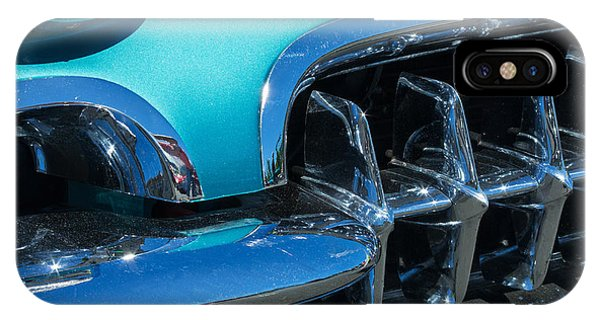 1960 Chevy Corvette Headlight And Grill Abstract IPhone Case