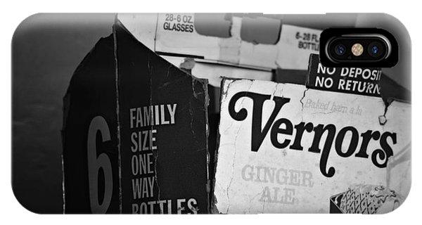 1960's Vernors Pop Box  IPhone Case