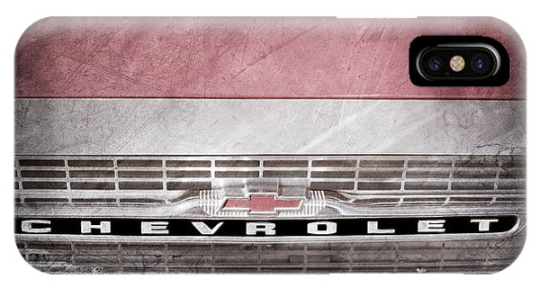 Corvair iPhone Case - 1961 Chevrolet Corvair Pickup Truck Grille Emblem -0130ac by Jill Reger