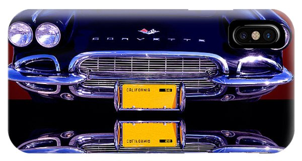 Auto Show iPhone Case - 1961 Chevy Corvette by Jim Carrell
