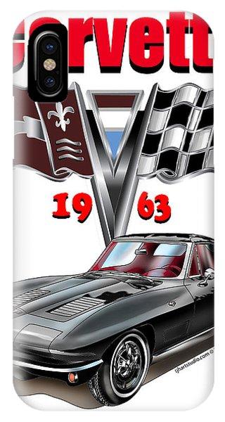 1963 Corvette With Split Rear Window IPhone Case