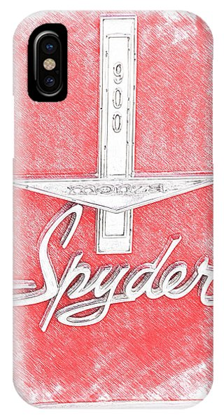 Corvair iPhone Case - 1963 Monza Spyder Emblem Sketch by Brooke Roby