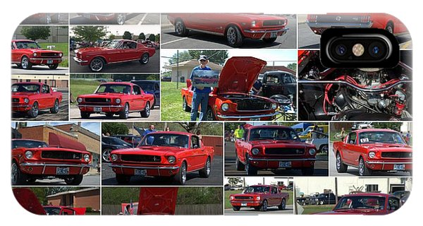 1965 Mustang Fastback Collage IPhone Case