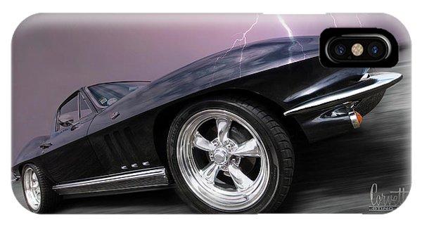 1966 Corvette Stingray With Lightning IPhone Case