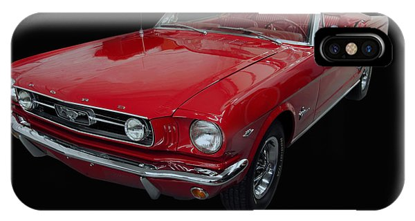 1966 Ford Mustang Convertible IPhone Case
