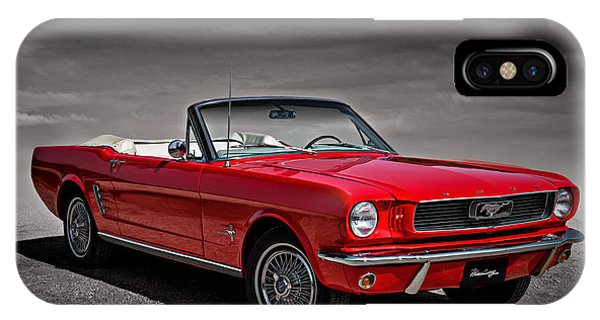 Vintage iPhone Case - 1966 Ford Mustang Convertible by Douglas Pittman