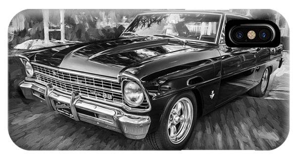 1967 Chevrolet Nova Super Sport Painted Bw 1 IPhone Case