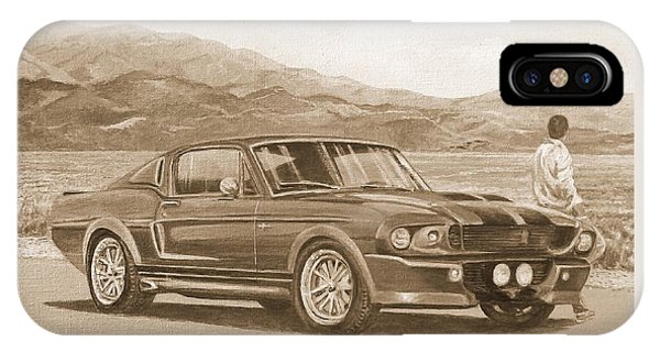 1967 Ford Mustang Fastback In Sepia IPhone Case