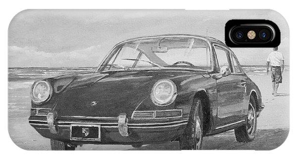1967 Porsche 912 In Black And White IPhone Case