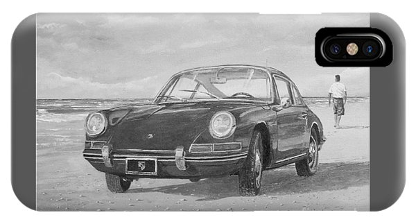 1967 Porsche 912 In Black And White IPhone Case