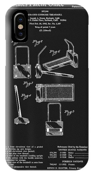 1967 Treadmill Patent IPhone Case