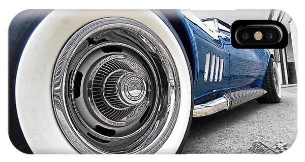 1968 Corvette White Wall Tires IPhone Case
