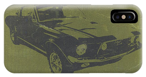 American Cars iPhone Case - 1968 Ford Mustang by Naxart Studio