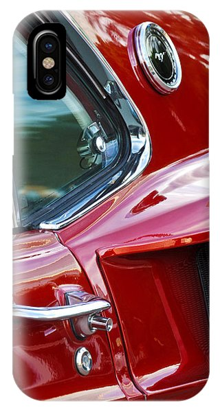 IPhone Case featuring the photograph 1969 Ford Mustang Mach 1 Side Scoop by Jill Reger