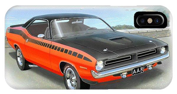 1970 Barracuda Aar  Cuda Classic Muscle Car IPhone Case