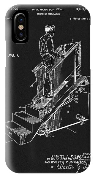 1970 Exercise Machine Patent IPhone Case